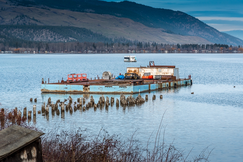 Barge on Okanagan Lake - 1