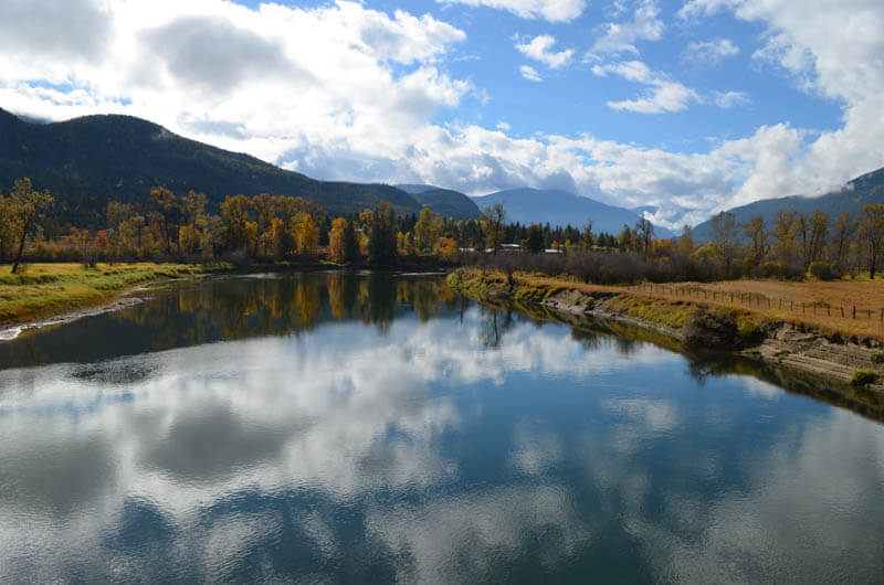fall colours, Slocan River