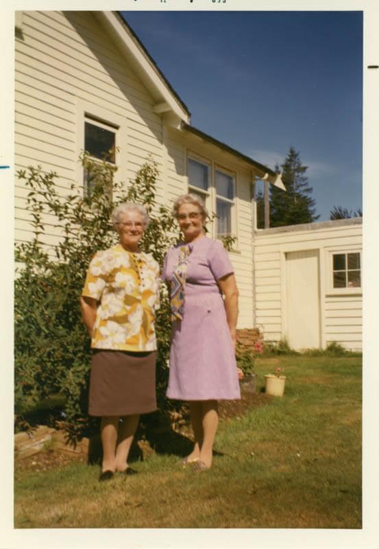Bernice (Grandma) Sklapsky and her sister Aunt Eleanor