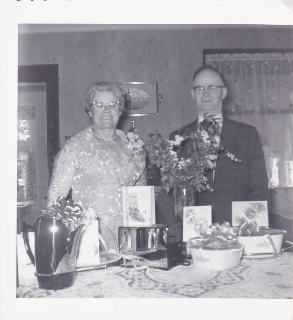Frank and Bernice Sklapsky, at their anniversary