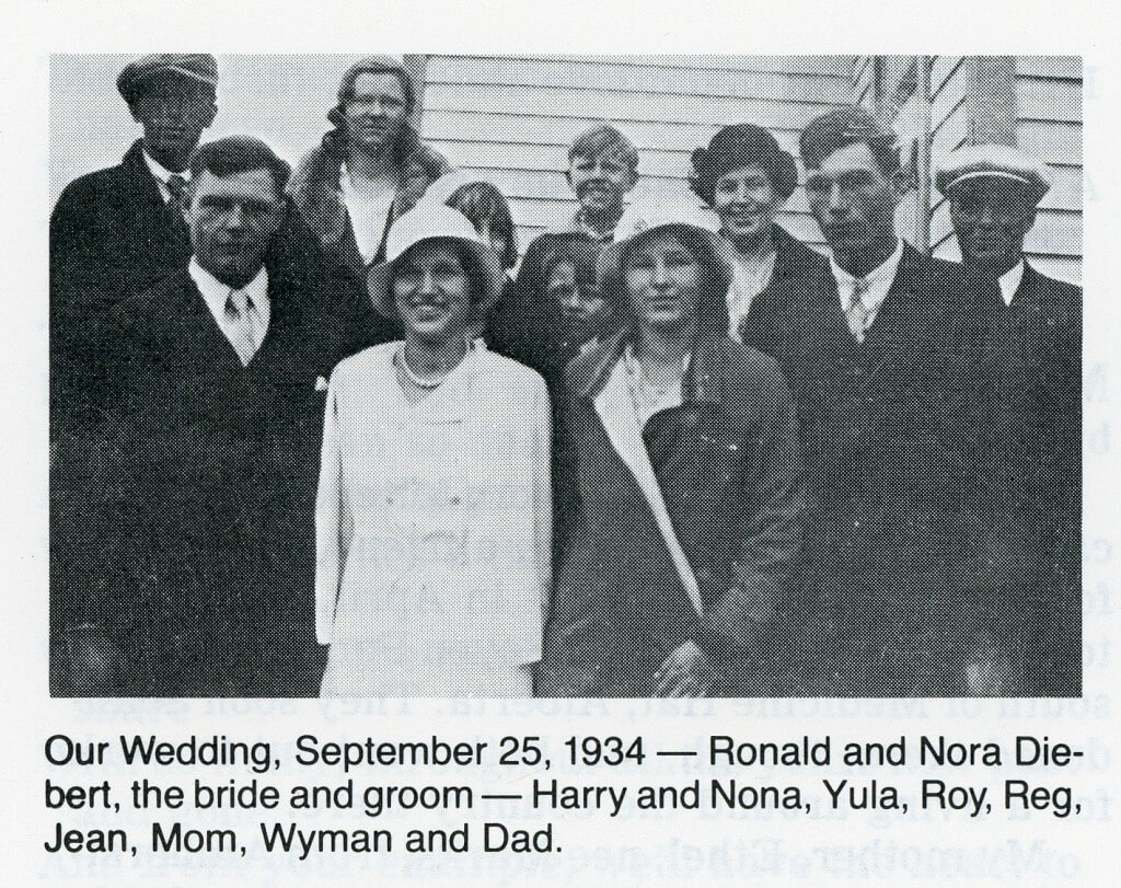Harry and Nona's wedding 1934